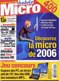 lapin dans micro hebdo, dec 2005