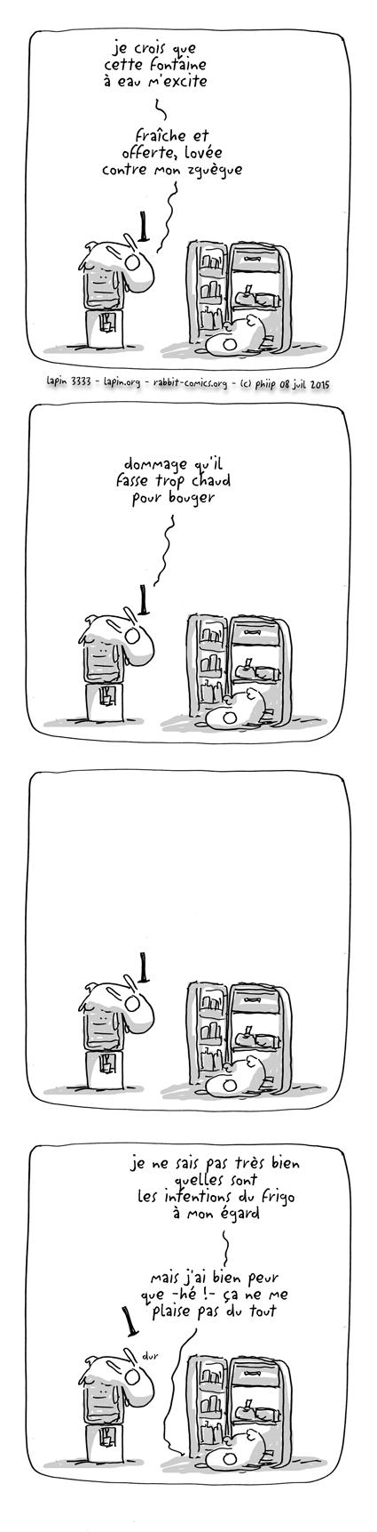 des lapins de bureau en action